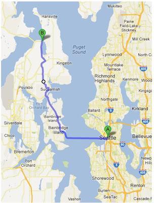bainbridge island ferry route