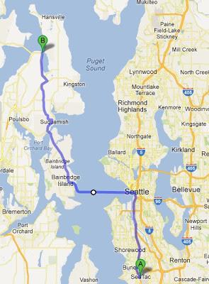 seatac ferry route